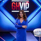 Raquel Bollo en el plató de 'Gran Hermano VIP' tras su expulsión