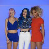 Sweet California (Alba Roig, Sonia Gómez y Tamy Nsue) en la grabación del videoclip de 'Good Lovin'