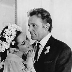 Elizabeth Taylor el día de su boda con Richard Burton