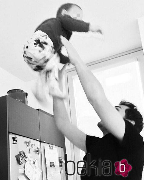 Imagen de ker Casillas con la que Sara Carbonero le felicitó en el Día del Padre