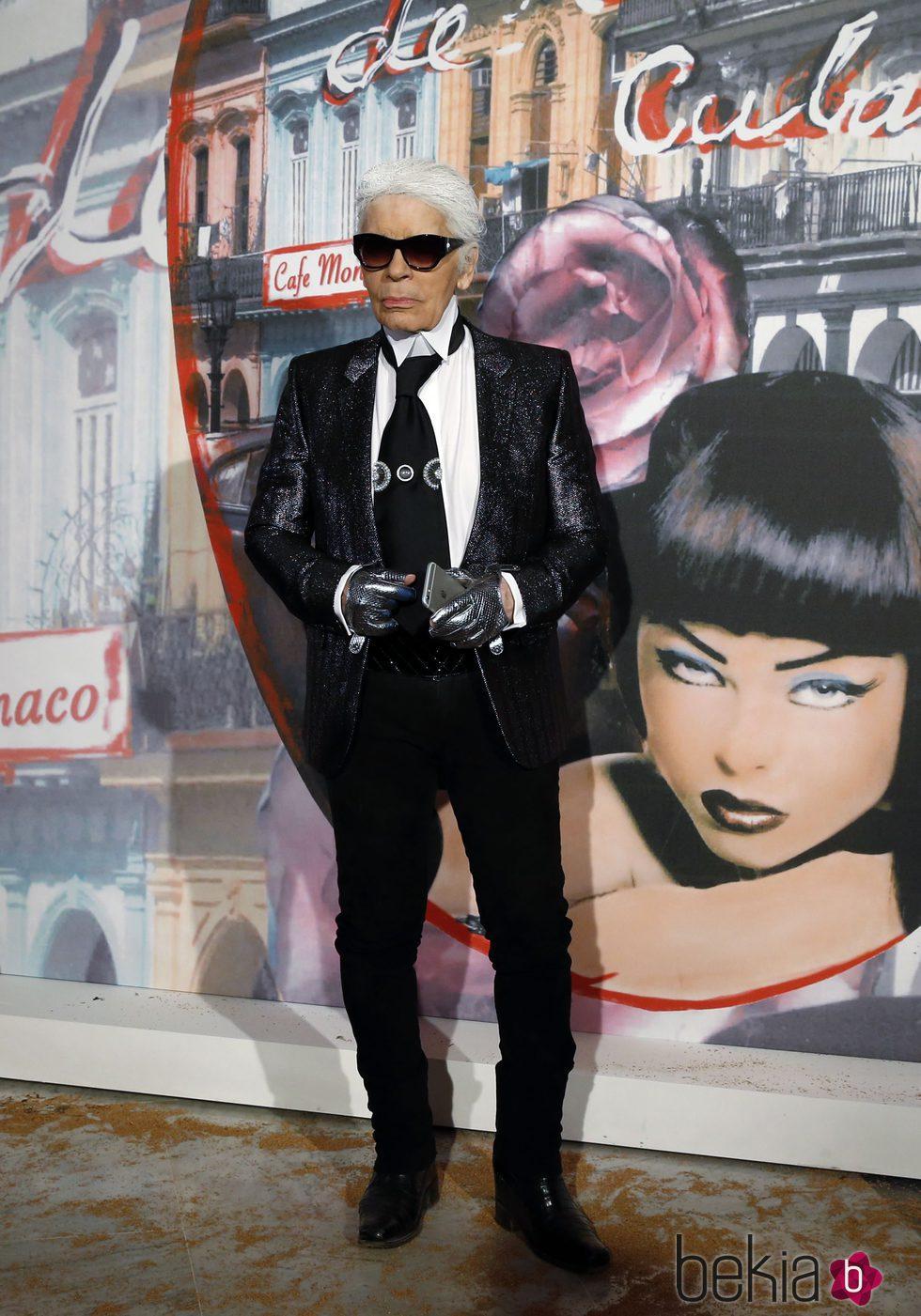 Karl Lagerfeld durante el Baile de la Rosa 2016