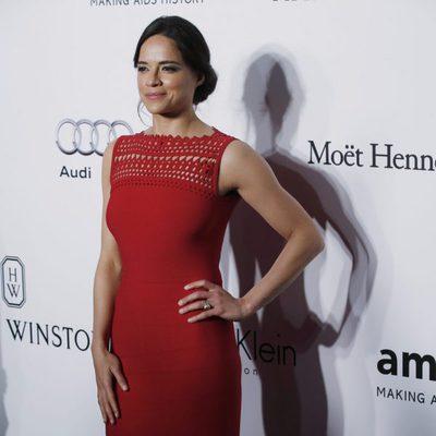 Michelle Rodríguez en la gala benéfica amfAR en Hong Kong