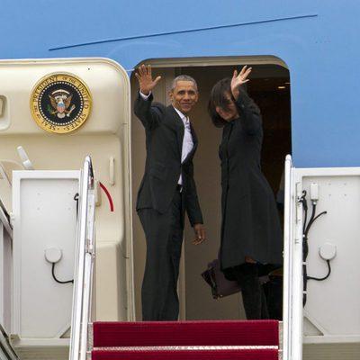 Barack Obama y Michelle Obama se despiden tras su viaje a Cuba