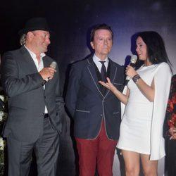 Amador Mohedano, José Ortega Cano y Gloria Camila en la apertura de 'La más grande' en Chipiona