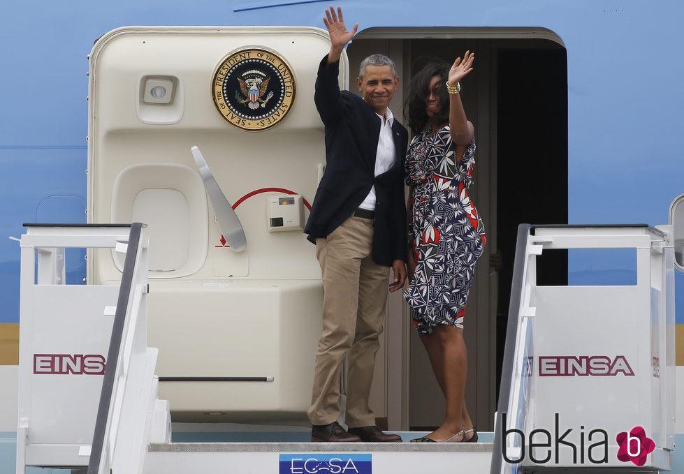 Barack Obama y Michelle Obama finalizan su viaje a Cuba