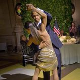 Barack Obama bailando tango durante su visita oficial a Argentina