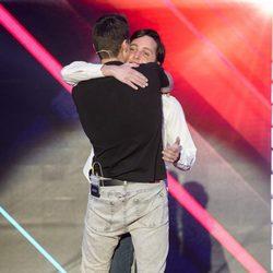 Fran Nicolás se reencuentra con Javier Tudela en el plató de 'Gran Hermano VIP 4'