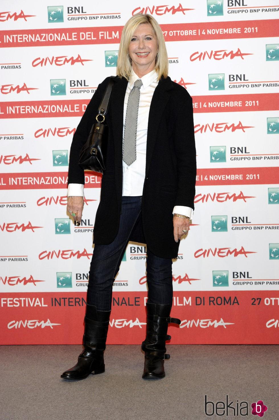 Olivia Newton-John en el Festival de cine internacional de Roma