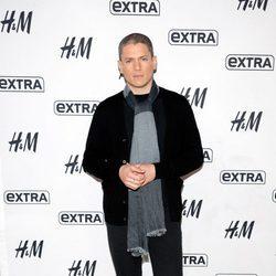 Wentworth Miller durante un acto de H&M