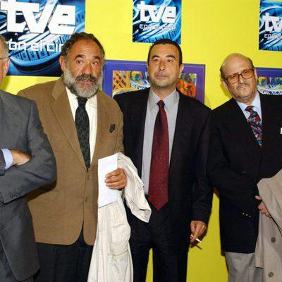 Alfredo Landa, Paco Algora, José Luis Garci y Agustín González