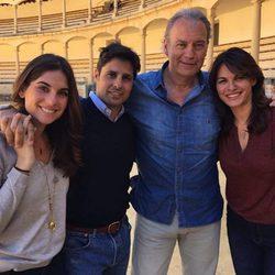 Fran Rivera y Lourdes Montes con Bertín Osborne y Fabiola Martínez para el programa 'Mi casa es la tuya'