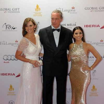 Fabiola Martínez, Bertín Osborne y Eva Longoria en la Global Gift Gala 2014