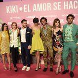 Paco León, Belén Cuesta, David Mora, Mari Paz Sayago, Natalia de Molina, Álex García y Candela Peña en el estreno de 'Kiki'