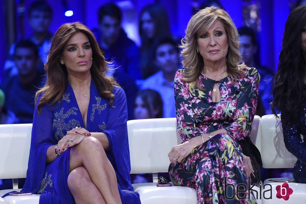 Rosa Benito y Raquel Bollo en el plató de 'Gran Hermano VIP'
