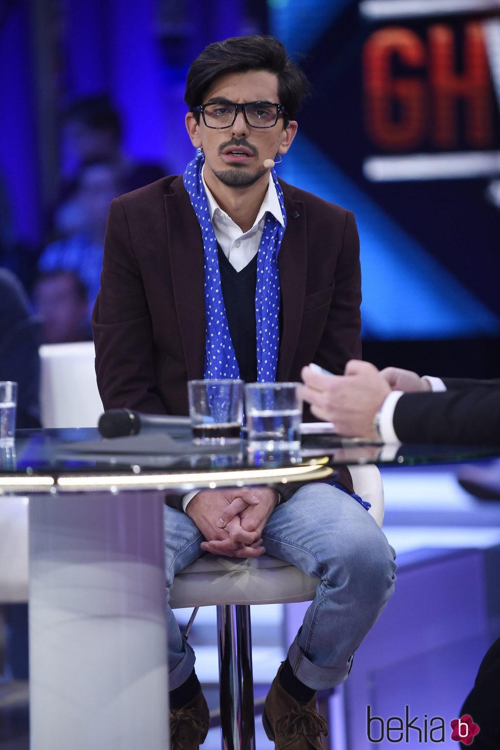 Dani Santos en el plató de 'Gran Hermano VIP' tras su expulsión