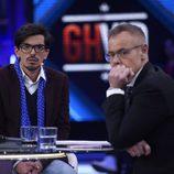 Dani Santos con Jordi González en el plató de 'Gran Hermano VIP' tras su expulsión