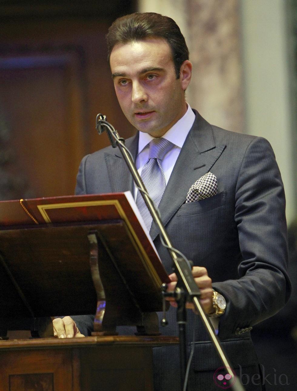 Enrique Ponce durante su nombramiento como hijo predilecto de Valencia