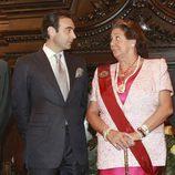 Enrique Ponce con Ritá Barberá durante su nombramiento como hijo predilecto de Valencia