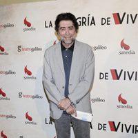 Joaquín Sabina en el estreno de la obra teatral 'La alegría de vivir'