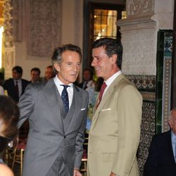 Alfonso Díez y Cayetano Martínez de Irujo charlan animadamente