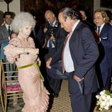 La Duquesa de Alba bailando con Curro Romero