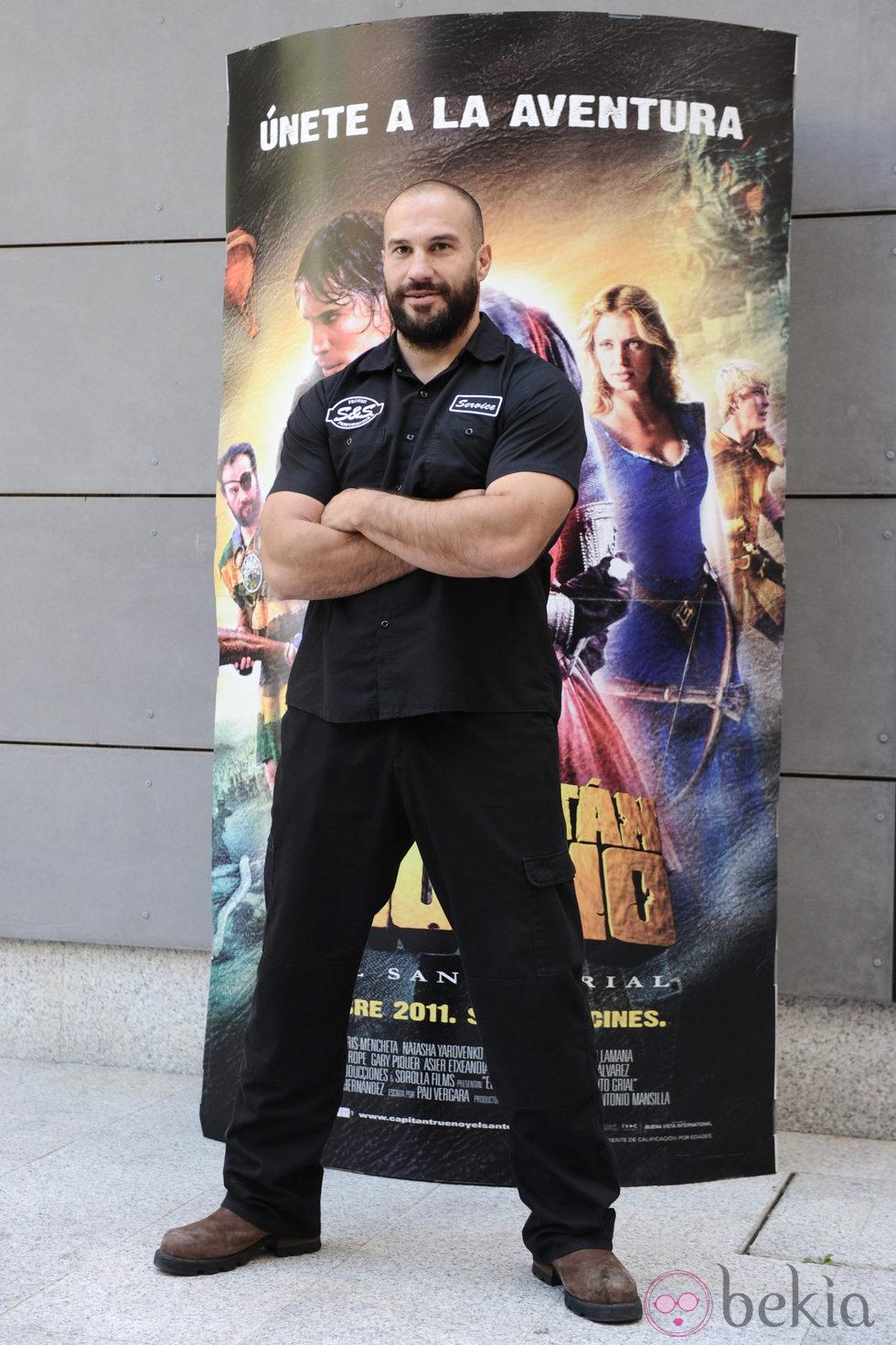 Manuel Martínez en la presentación de 'Capitán Trueno y el Santo Grial'