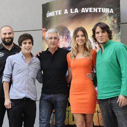 Los actores y el director en la presentación de 'Capitán Trueno y el Santo Grial'