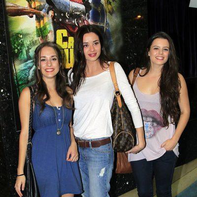 Silvia Alonso, Dafne Fernández y Adriana Torrebejano en el estreno de 'Capitán Trueno'