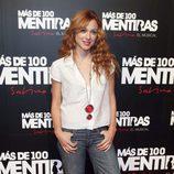 Marta Hazas en el estreno del musical 'Más de 100 mentiras'