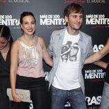 Alicia Rubio y Raúl Arévalo en el estreno del musical 'Más de 100 mentiras'