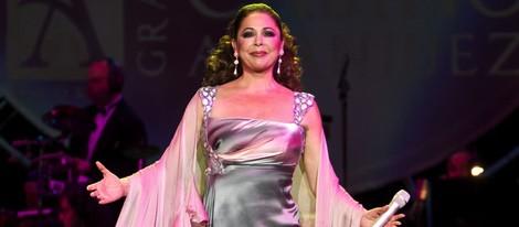 Isabel Pantoja durante un concierto en Madrid