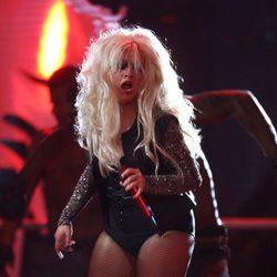 Christina Aguilera en el concierto 'Michael Forever'