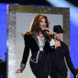 La Toya Jackson en el concierto homenaje a Michael Jackson
