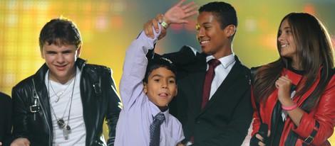 Prince Michael Jackson, Royal Jackson y Paris Jackson en el concierto homenaje a Michael Jackson