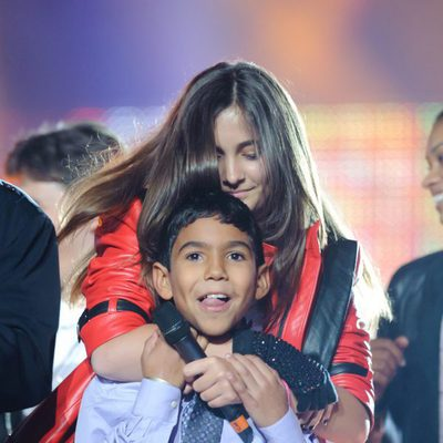 Paris Jackson y Royal Jackson en el concierto homenaje a Michael Jackson