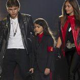 Prince Jackson, Blanket Jackson y Paris Jackson en el concierto homenaje a Michael Jackson
