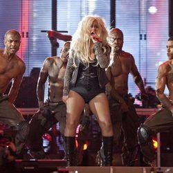 Christina Aguilera durante el concierto homenaje a Michael Jackson
