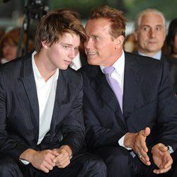 Arnold Schwarzenegger y su hijo Patrick de visita a España