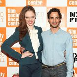 Zac Posen y Coco Rocha en el estreno de 'My Week With Marilyn' en Nueva York