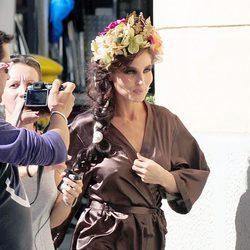 La actriz Elsa Pataky durante el rodaje de 'The wine of summer'