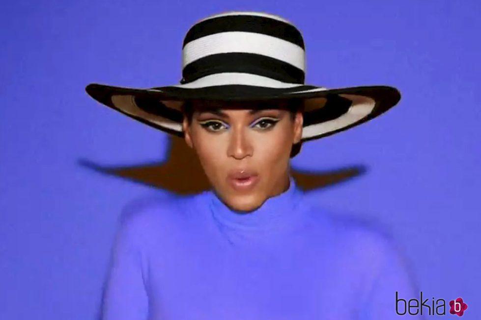 Beyoncé durante la grabación de su videoclip 'Countdown'