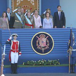 La Familia Real al completo en Palco Presidencial del Día de la Hispanidad 2011