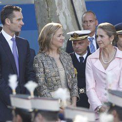 Los Duques de Palma y la Infanta Elena el Día de la Hispanidad 2011