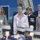 La Princesa Letizia y las Infantas Elena y Cristina el Día de la Hispanidad