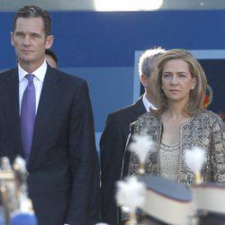 La Infanta Cristina e Iñaki Urdangarín el Día de la Hispanidad 2011