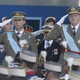 El Rey Juan Carlos y el Príncipe Felipe el Día de la Hispanidad
