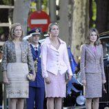 La Princesa Letizia, la Infanta Elena y la Infanta Cristina el Día de la Hispanidad