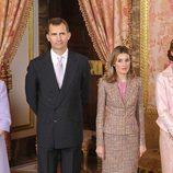 Los Príncipes de Asturias en el Palacio Real el Día de la Hispanidad