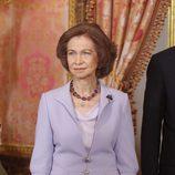 La Reina Sofía en el Palacio Real el Día de la Hispanidad