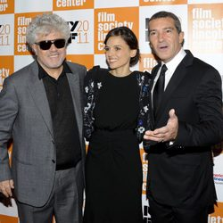 Pedro Almodóvar, Elena Anaya y Antonio Banderas estrenan 'La piel que habito' en el Festival de Nueva York